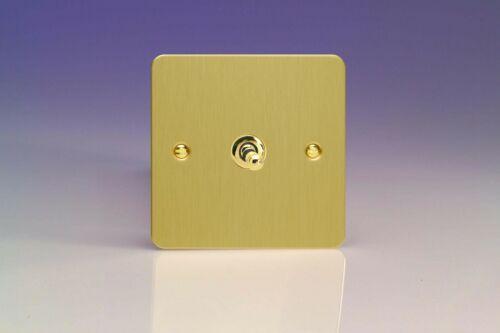 Varilight Ultraflat Brushed Brass XFBB Flat Light Switch Socket Dimmer Toggle TV