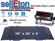 Portable Floor Scale Multi Purpose To Drum Vet Livestock 2000 X 2 Lb