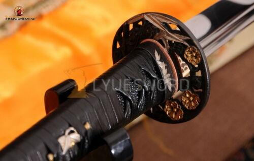Full Tang Japanese Samurai Sword KATANA 9260 Spring Steel Blade Razor Sharp