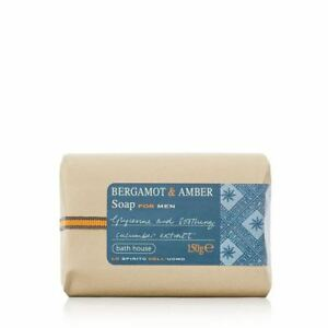 Bath-House-Bergamot-amp-Amber-Wash-Soap-Bar-for-Men-150g