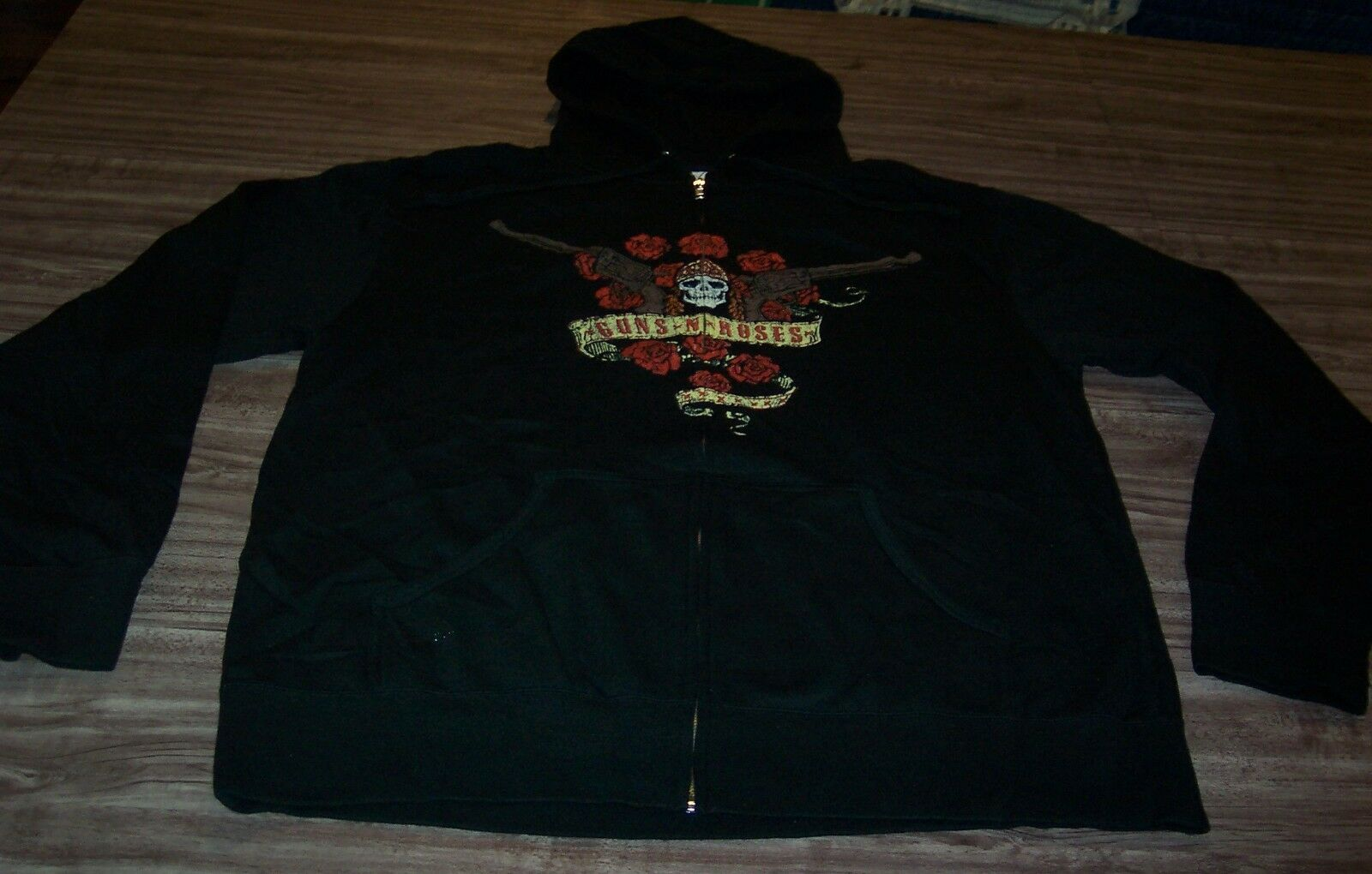 VINTAGE STYLE GUNS N ROSES Band ZIPPERDOWN HOODIE HOODED Sweatshirt 2XL XXL NEW