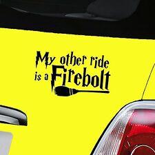 Harry Potter Firebolt Black Car Decal Window Sticker