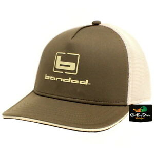 4eefda52cf7 NEW BANDED FITTED PERFORMANCE MESH HAT BALL CAP OLIVE AND KHAKI W  b ...