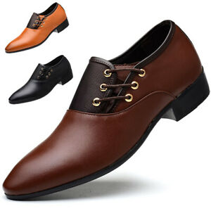 Men-Business-Leather-Shoes-Formal-Oxford-Shoes-Fashion-Casual-Pointed-Toe-Shoes