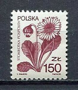 35997) Poland 1989 MNH Definitive, Flower 1v