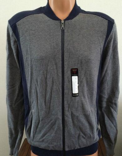 piccola S Guess Zip uomo Sweater blu X44r05z10s0 Cotton Grigio Taglia Full Alfie Mock ZqwBBdE