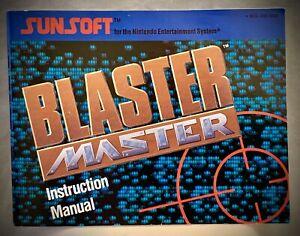 Blaster-Master-NES-Nintendo-Instruction-Manual-Booklet-Only-1988-Sunsoft