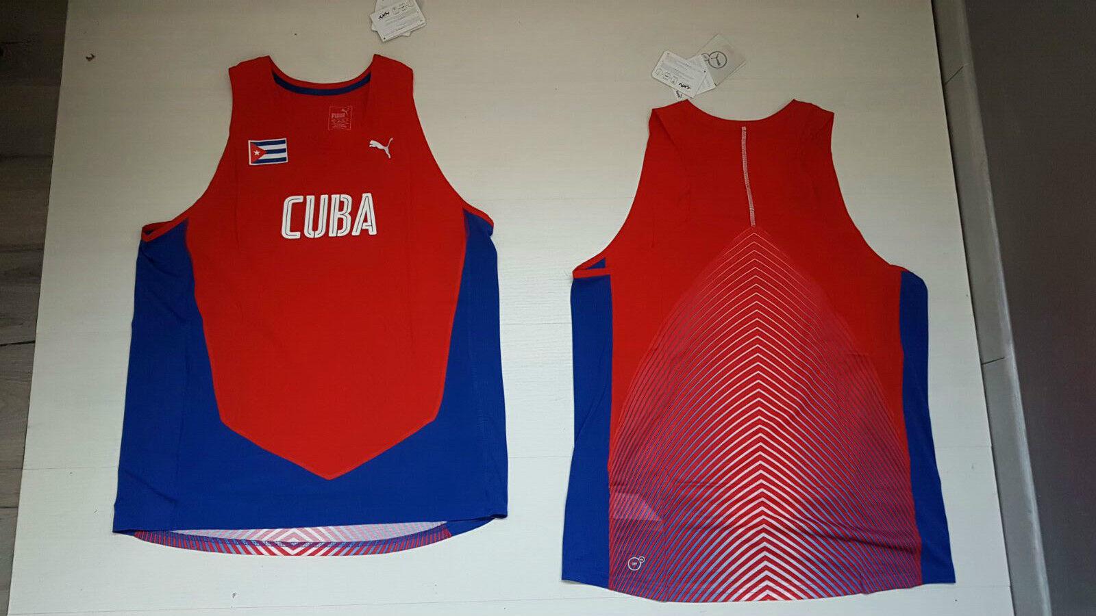 PUMA CUBA TANK TOP SINGLET TANK TOP SLEEVELESS RIO 2016 OLYMPICS SALSA