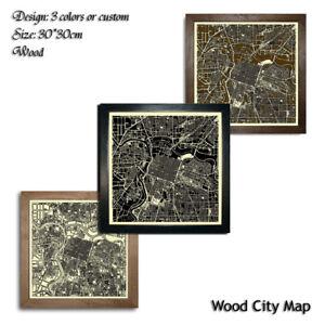 Wood-City-Map-Sacramento-USA-Decor-Picture-Town-Village-Laser-Cut-Wall-Art-30x30