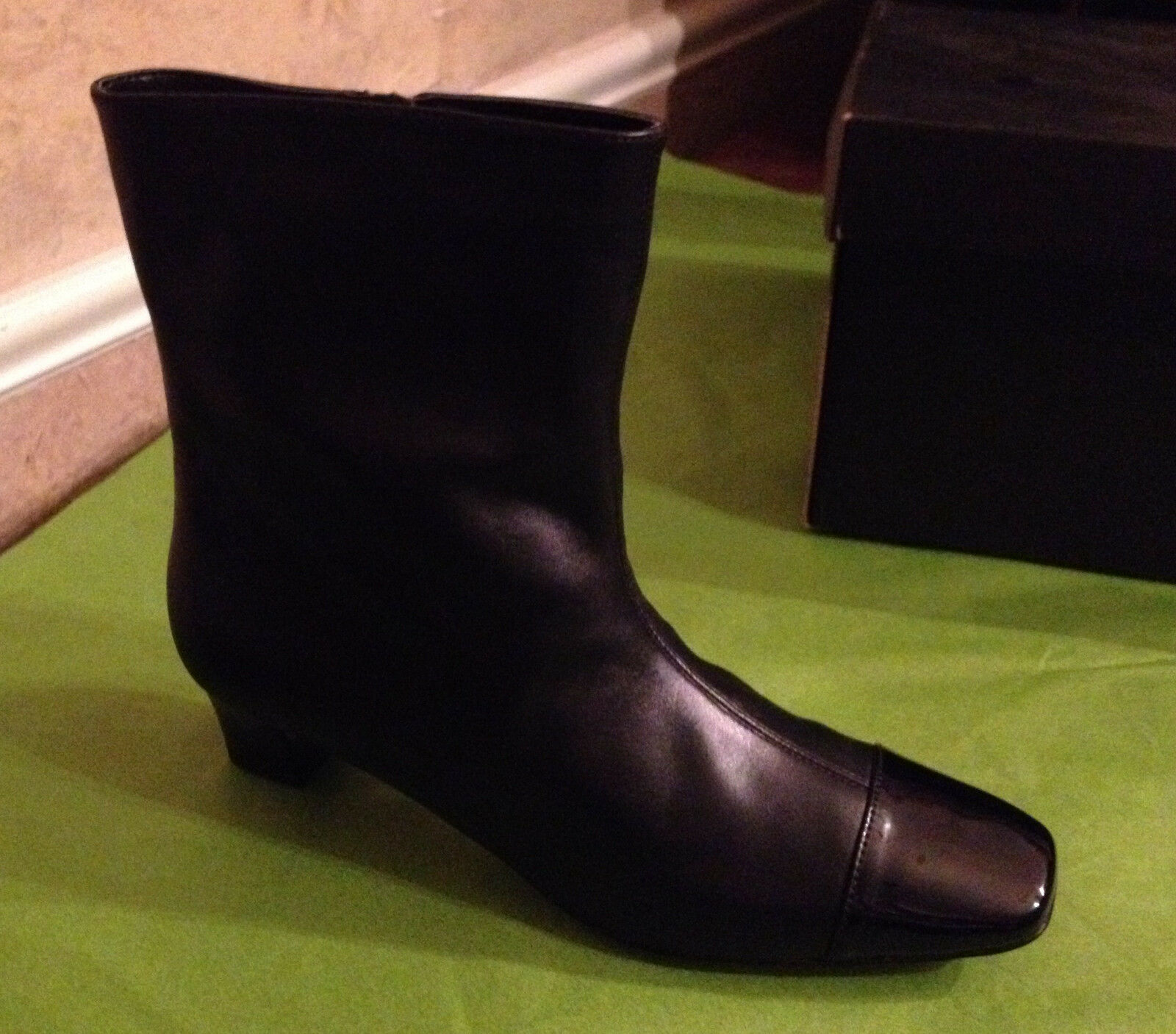 Auditions Class Act Leather Mid-Calf Boots Heels Size 9 N / S Narrow MSRP 0