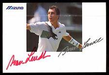 Ivan Lendl HAND SIGNED auto AUTOGRAPH ON MIZUNO 4X6 POST CARD Tennis HOF PLAYER
