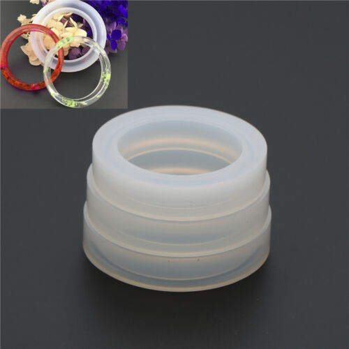 Round Silicone Mold Resin Bracelet Bangle DIY Jewelry Casting Mold Mould ToolJ/&C