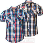 Mens Check Shirt Tokyo Laundry 1H 4515 Casual Short Sleeve Cotton S, M, L & XL
