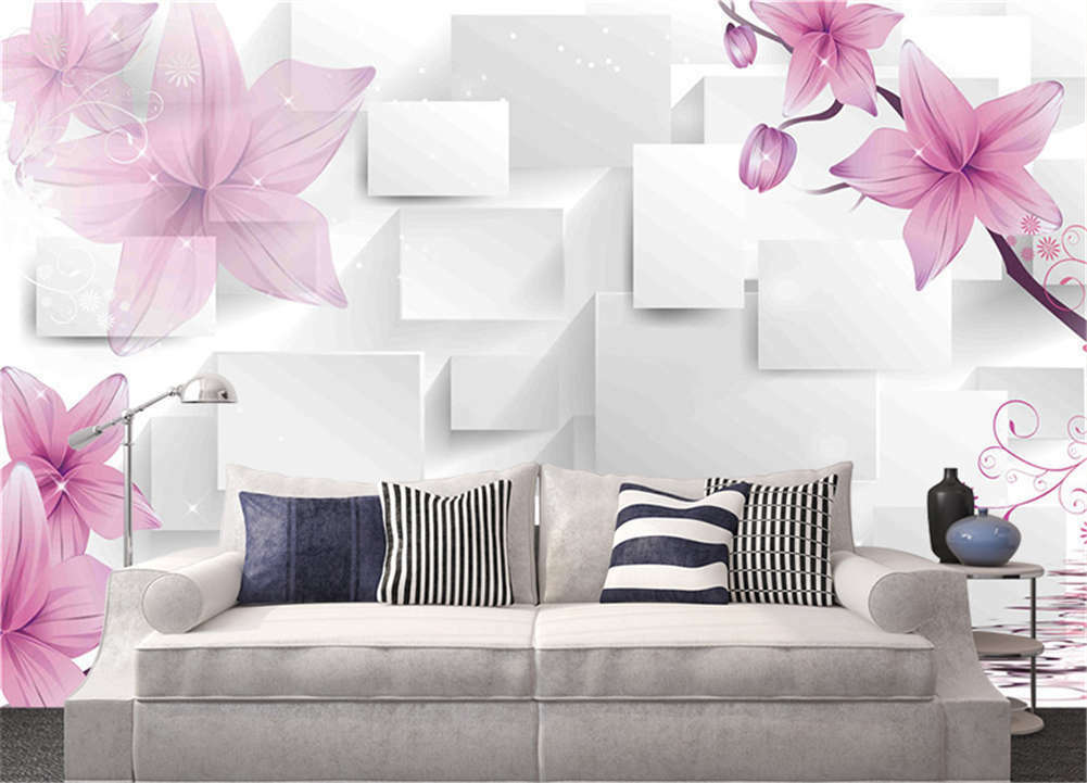 Clear Habitual Peony 3D Full Wall Mural Photo Wallpaper Printing Home Kids Decor
