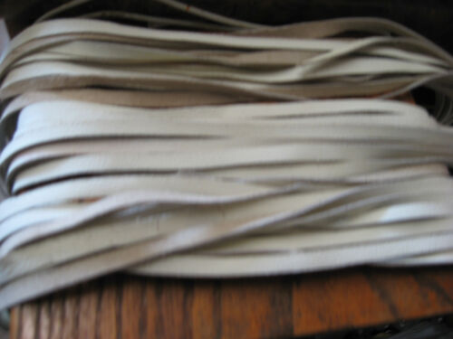 Details about  /12 GENUINE STRINGS 62 INCH BONE COLOR 3//8 inch 744 INCH TOTAL