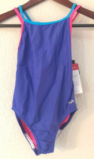 b3e47fb76 Frequently bought together. Big Girls Youth Speedo Solid Splice Cross-Back  One-Piece Swimsuit ...