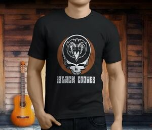 The Black Crowes Tall Men/'s Black T-Shirt Size S to 3XL