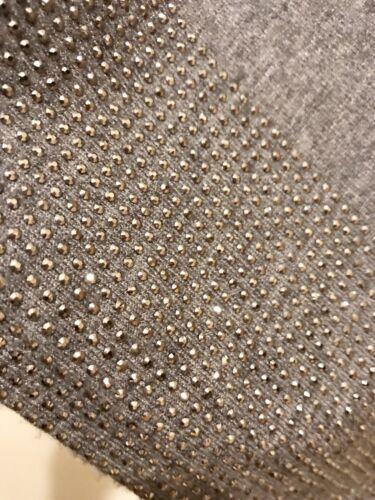 Beautiful Silver Stud Embellished Hem Poncho Grey Super Soft One Size