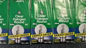 10-x-BELL-Eco-Golf-Ball-28w-BC-Halogen-Clear-Top-Quality-Lamps