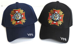 VFW-Hat-Cap-Black-or-Blue-Military-VETERANS-of-FOREIGN-WARS-FREE-SHIPPING
