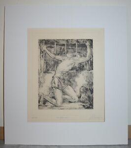 Listed-German-Artist-JOHANN-VINCENZ-CISSARZ-Signed-Original-Etching-1922