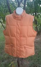 Fall Autumn Talbot's Orange Goose Down Puffer Vest-Small Petite -GUC