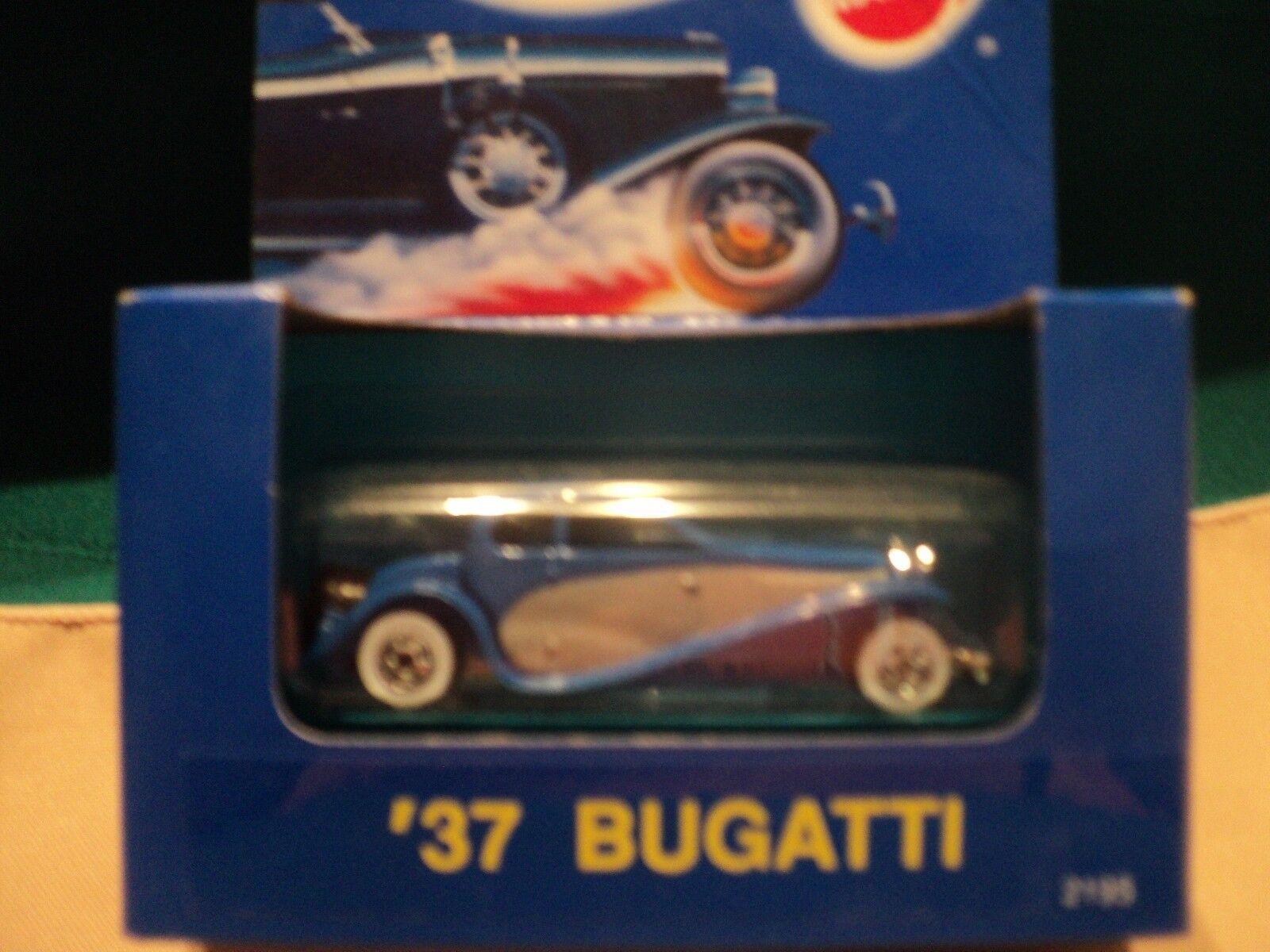 HOT WHEELS RARE VHTF blueE BOX '37 BUGATTI DIECAST 1990
