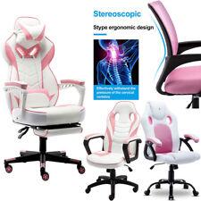 Executive Racing Gaming Chair Ergonomic Swivel Desk Seat Office Furniture Pink