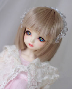 "New 1//4 Girl BJD SD Doll Wig Dollfie 7/"" DZ DOD LUTS High Temperature Wire Hair"