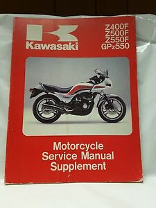 new nos oem kawasaki service shop manual supplement zx550 gpz z500 rh ebay ie kawasaki z500 manual pdf Kawasaki Z600