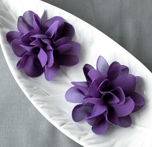 6 pcs Chiffon Flower Chiffon Fabric Silk Rose Flower for Baby Hair Comb Craft