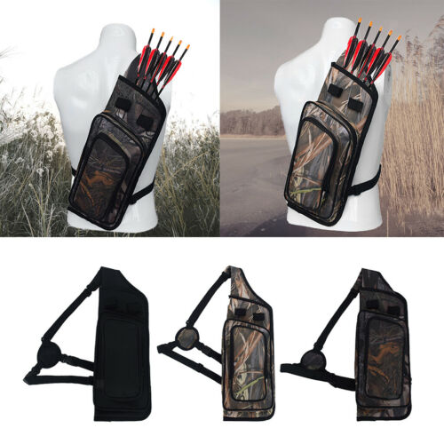 Archery Quiver Arrow Backpack Hunting Compound Recurve Bow Holder