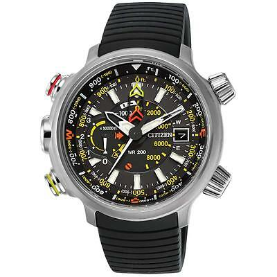 Citizen Eco Drive Mens Promaster Altichron Titanium Case Rubber Watch BN5030-06E