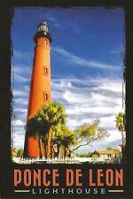 Stylish FL Light Postcard Fence Ponce de Leon Inlet Lighthouse Florida 1933