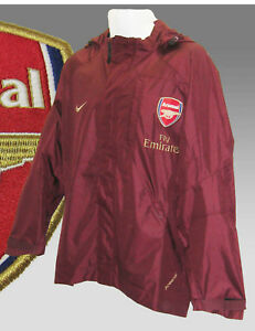 e365d9544b84 Image is loading New-NIKE-ARSENAL-Football-Player-Issue-RAIN-JACKET-
