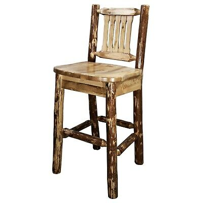 Rustic Log Bar Stools 24 Inch Counter, 24 Inch Height Chairs