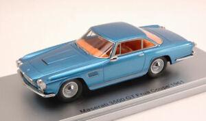 Maserati 3500 Gt Frua Coupe' 1961 Metallic Blue 1:43 Kess Model KS43014050 Model