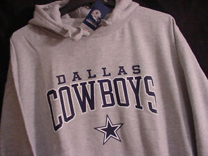 NEW-NWOT-Authentic-Dallas-Cowboys-Pullover-Logo-Hoodie-SweatShirt-Gray-Men-039-s-M