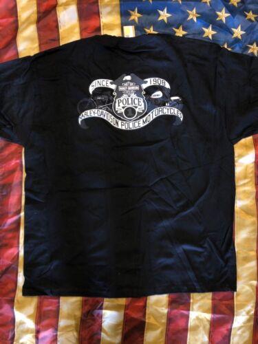 HARLEY DAVIDSON VINTAGE MEN/'S POLICE POCKET SHORT SLEEVE SHIRT XXL