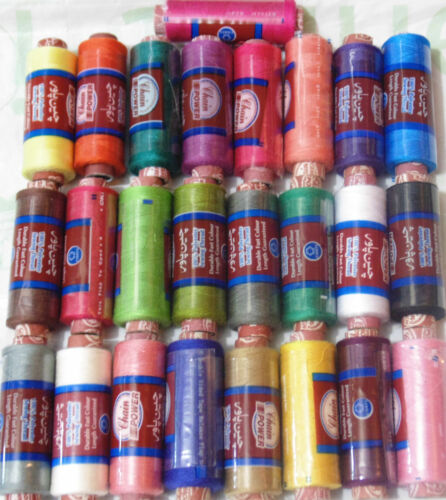 25 x New 100/% Polyester Sewing Thread Spools 25 Different Colours Good Quality