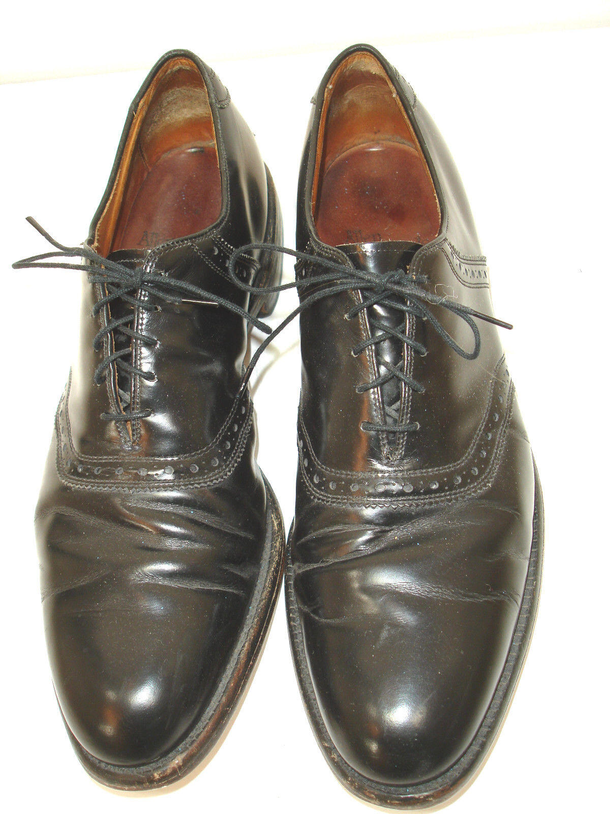 Allen Edmonds Polo Black Leather Lace Up Oxford shoes 12 A Made in USA