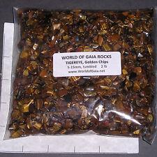 TIGEREYE GOLDEN CHIPS 5-15mm tumbled 1/2 lb bulk stones xmini+ L03 SAVE 20%