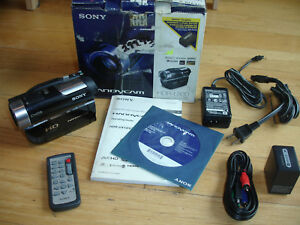 Sony-HDR-UX10-DVD-Camcorder-NightShot-Software-Manual-Remote-Cables