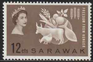 SARAWAK-1963-FREEDOM-FROM-HUNGER-FFH-SET-1v-FRESH-MNH-CAT-RM-12