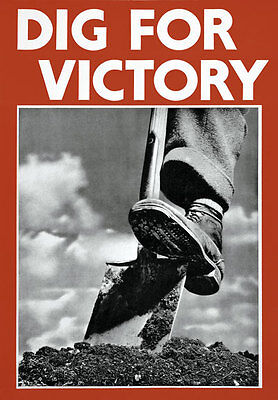 A2  Reprint World War Two Dig For Victory Poster  A3