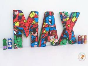 Superhero-Letters-In-Fabric-Decorative-Wall-Art-Personalised-Padded-Children