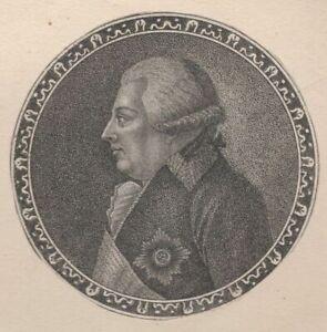 Portrait-de-Friederich-Konig-Virtermberg-Gravure-originale-XVIIIe