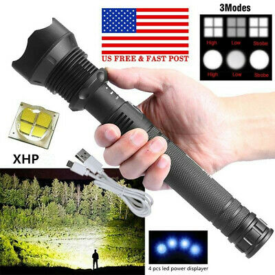 High Powered 990000LM Tactical Torch Super Bright LED Flashlight Rechargeable