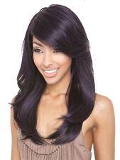 Isis Brown Sugar Human Hair Blend FULL  Wig - BS110 COL: PURPLE BLACK