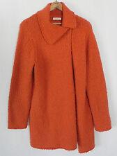 Laura Ashley Sweater Long Cardigan/Coat Orange  Acrylic/Wool  Asymetrical Size L